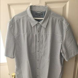 CCW Casual Button Down BLUE CHEX Shirt - XL